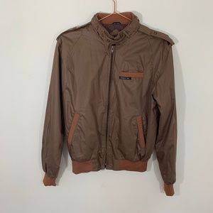 Vintage Members Only Brown Aviator Bomber Jacket